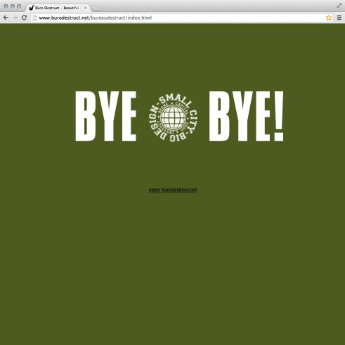 goodbye spinning «Small City Big Design» splash site