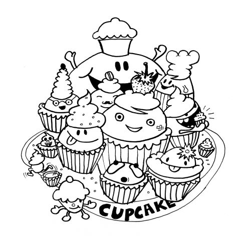 Nokia Navigation Campaign illustration Berlin Cupcake