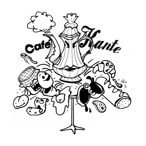 Nokia Navigation Campaign illustration Frankfurt Café Kante