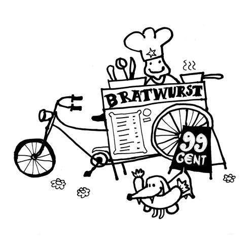 Nokia Navigation Campaign illustration Leipzig Bratwurst