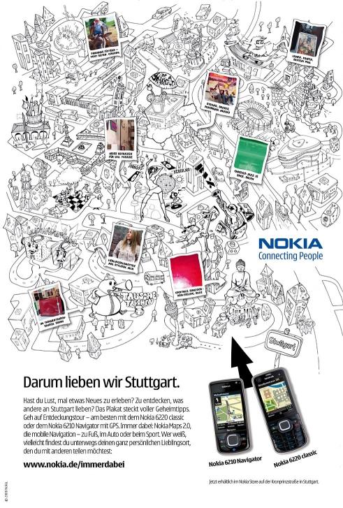 Nokia Navigation Campaign Stuttgart