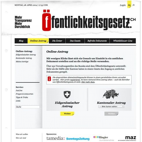 Öffentlichkeitsgesetz.ch logotype and website