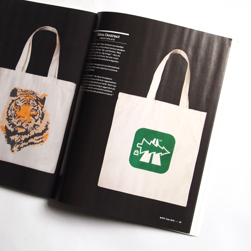 Carry Hope Tote Bag design for Greenpeace in Print Magazine
