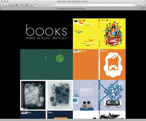 old BD website books portfolio