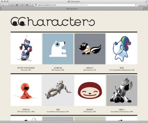 old BD website characters portfolio