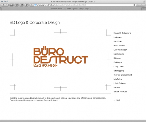 old BD website logotypes portfolio
