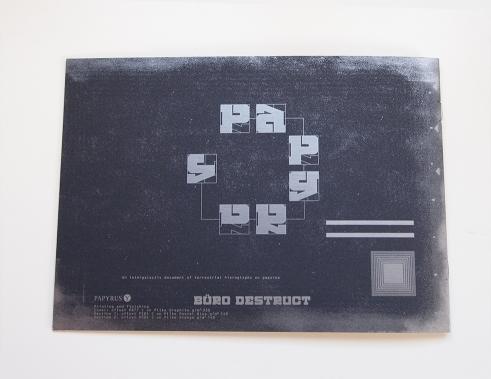 Papyrus Plike paper booklet backside