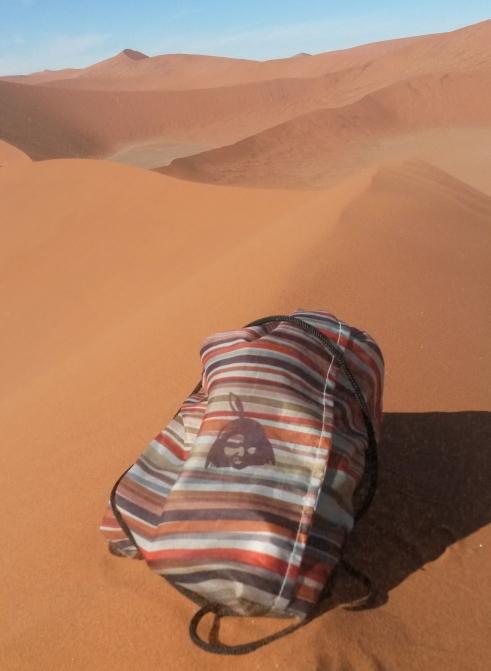Kitchener stripes brown bag