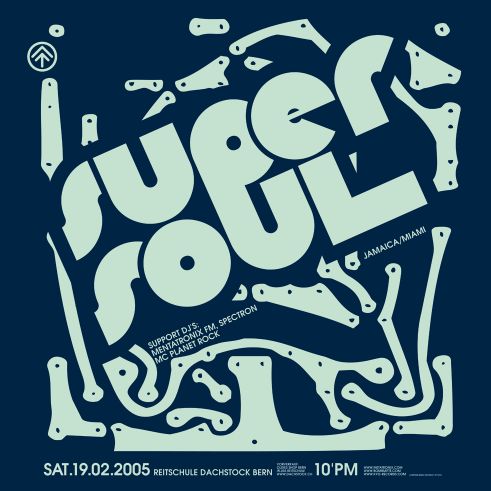Super Soul concert poster and flyer 2005