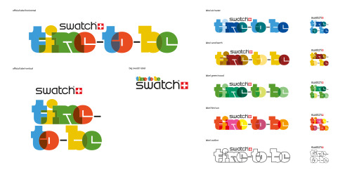 Swatch time-to-be logotype versions