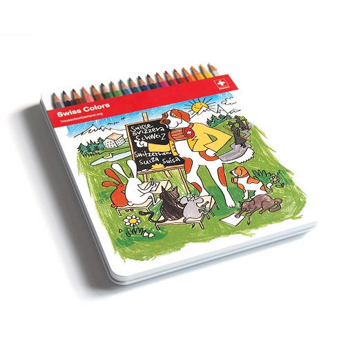 Swiss Coloring Book crayon box