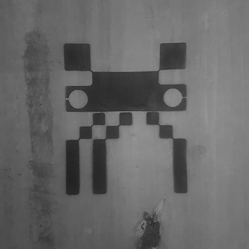 Technoculture 2 Microns stencils sprayed