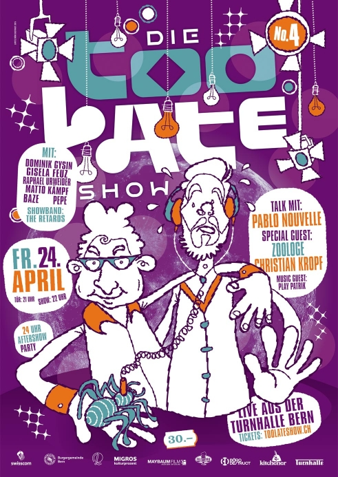 Die Too Late Show 4 poster