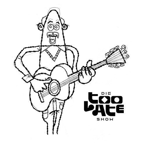 Die Too Late Show illustration King Pepe