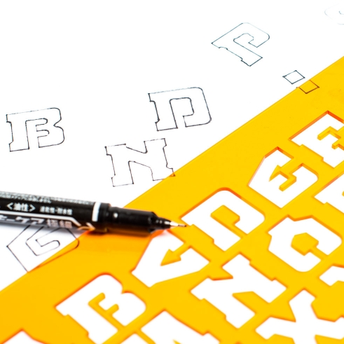 Typedifferent Font Stencil BDR A3mik