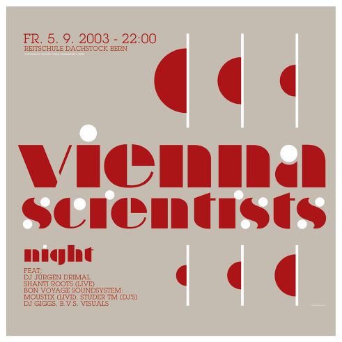 Vienna Scientists concert poster and flyer 2003