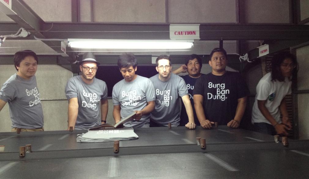 Unkl347 & BD 8ung BanDung T-shirt silkscreening