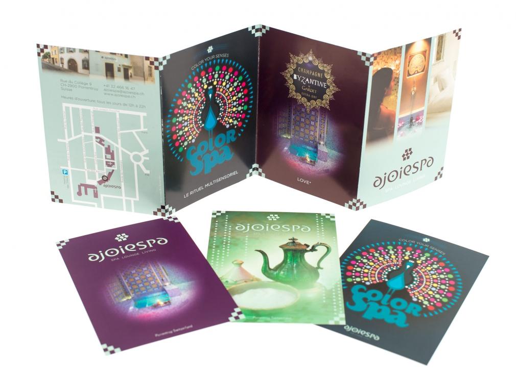 Ajoiespa postcards and info leaflet