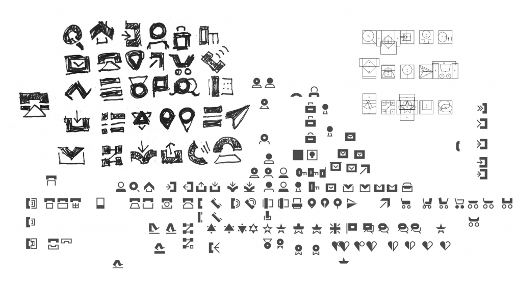 Adobe Xd Icon Kit sketches wip by Büro Destruct