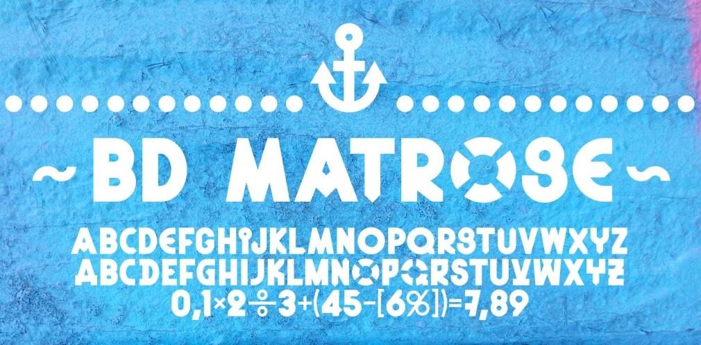 BD Matrose font