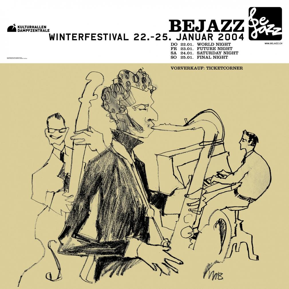 Bejazz Winterfestival poster 2004