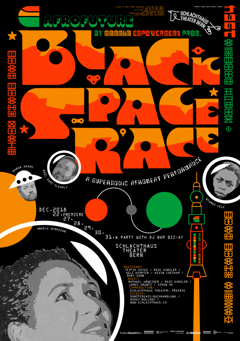 Black Space Race poster