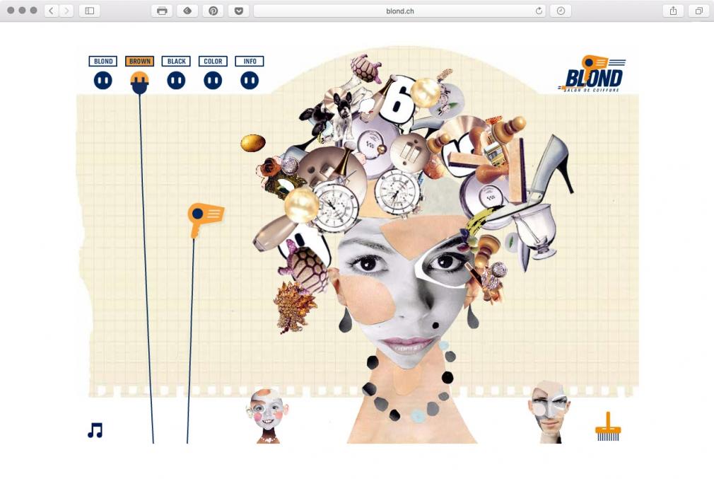 Blond Salon de Coiffure website