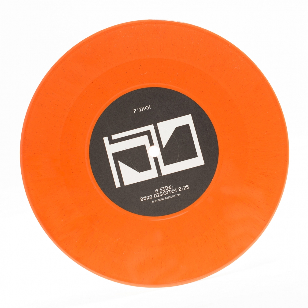 "Büro Discotec orange vinyl 7"" inch single"