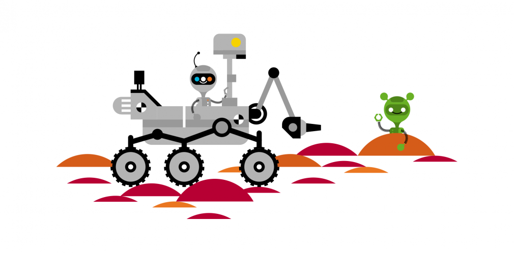 Connected Illustration mars-rover
