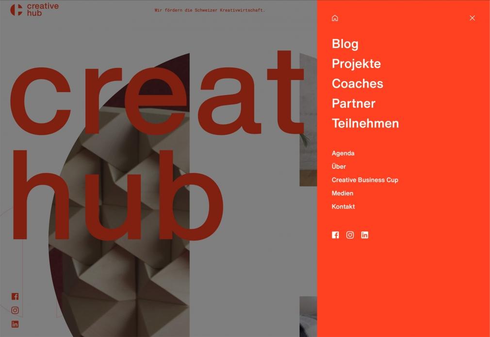 Creative Hub website