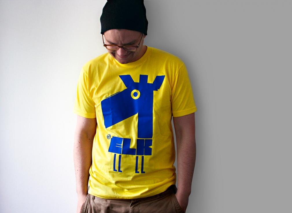 Edding850 Font elk tshirt
