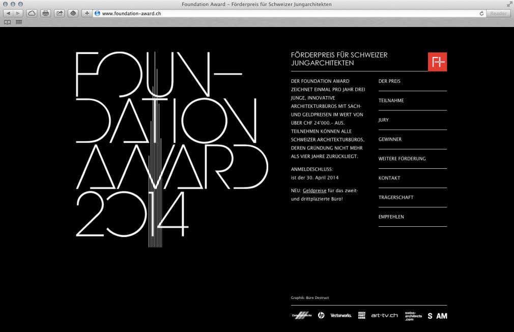 Foundation Award website
