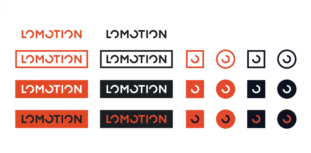 Lomotion logotype and icon