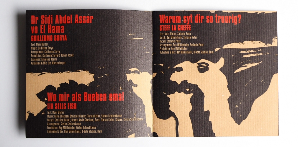 Mani Matter Tribute Und so blybt no sys Lied CD booklet spread