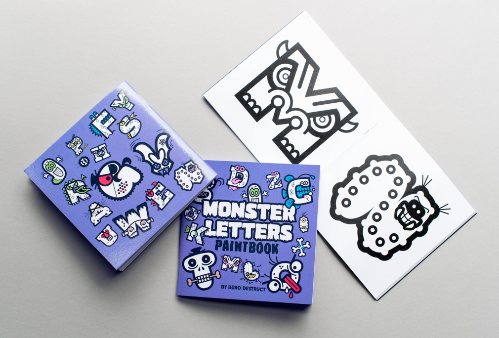 Monster Letters Paintbook