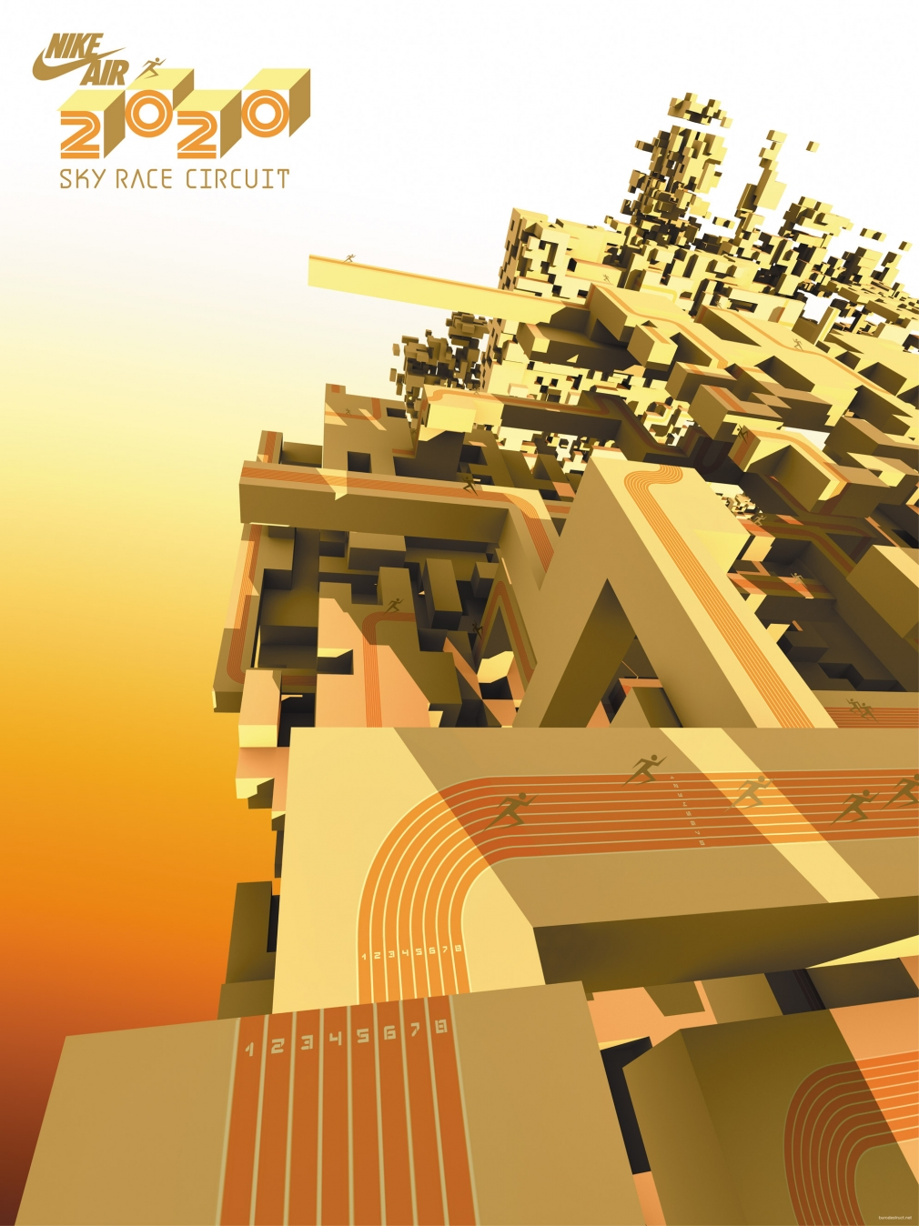 Nike Air 2020 Sky Race Circuit poster