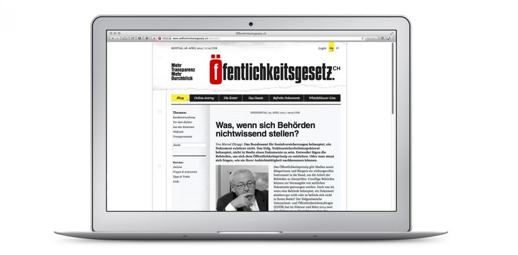 Öffentlichkeitsgesetz.ch website
