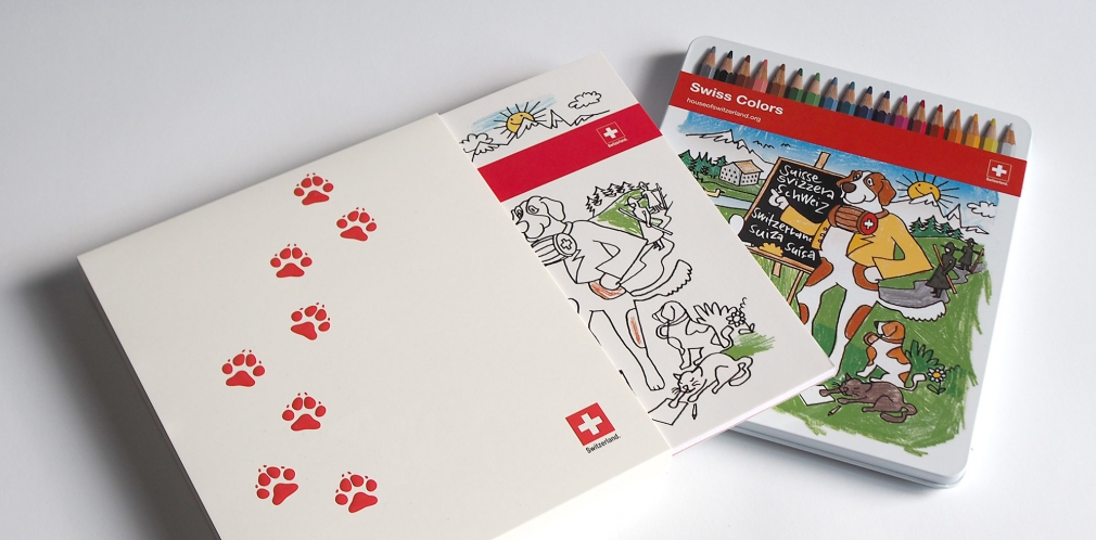 Swiss Coloring Book set