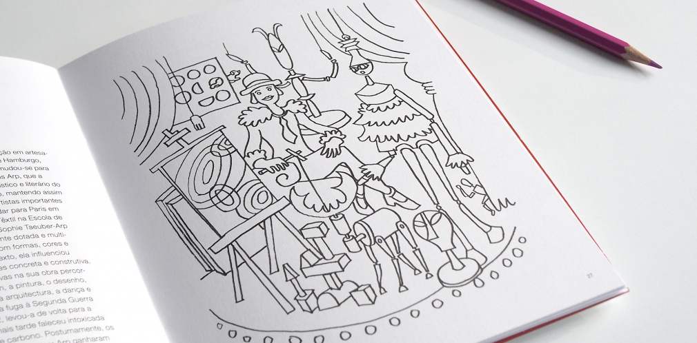 Swiss Coloring Book spread