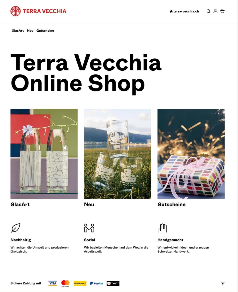 Terra Vecchia website shop