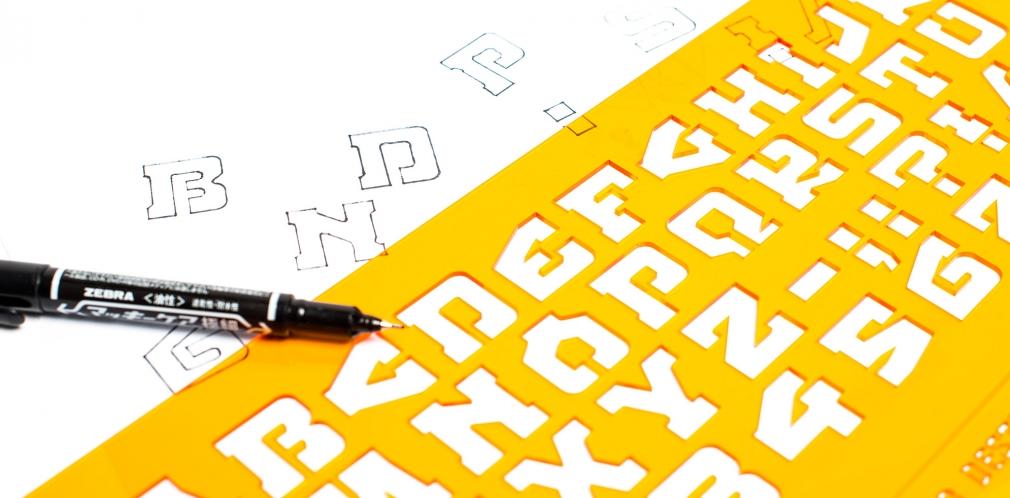 typedifferent font stencils